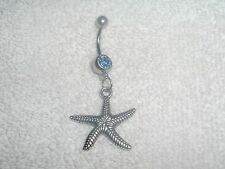 Ocean Beach Starfish Design Charm Belly Button Navel Ring Body Jewelry Piercing