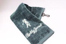 Bobby Jones Large 100% Cotton Tri - Fold Golf Towel Bottle Green or Burgundy New
