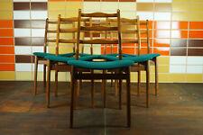 60er 6x Vintage Stühle Danish Retro Esszimmer Stuhl Nussbaum Mid-Century 2