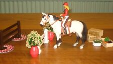 NEW Papo Rider + NEW Horse Schleich Saddle Bridle + Food Crate Show Jumps Bundle