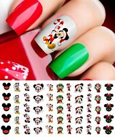 Mickey Mouse & Minne Mouse Christmas Nail Art Decals #1 - Salon Quality! Disney