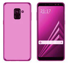 Funda TPU LISA Azul Samsung Galaxy A8 PLUS 2018 (6) +PROTECTOR CRISTAL ANTIGOLPE