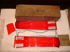 NOS MOPAR 1968 CHRYSLER NEW YORKER TAIL LIGHT LENSES & GASKETS NIBS!!!!