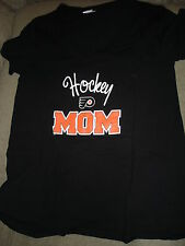 NHL WOMENS PHILADELPHIA FLYERS MATERNITY TEE SHIRT SMALL BLACK