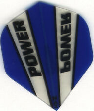 Blue & Clear POWER MAX Dart Flights: 150 Microns Thick: 3 per set
