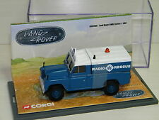 CORGI - LAND ROVER SERIES I RADIO RESCUE RAC BLEU