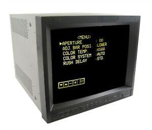 "JVC TM-H150CG 15"" High Resolution CRT Monitor Retro Gaming Color Screen SD PVM 1"