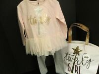 Mud Pie Sequin Tunic and Legging Set, Size 4T, and Matching Tote, NWT