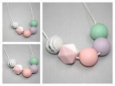 Necklace for mum (was teething) pink sensory Baby Tapuu Silicone jewellery