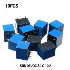 10 PCS 5V-24V 10A SRD-12VDC-SL-C Type Mini 5 Pins Relay DC HOOOT !