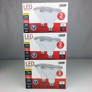 6 Feit PAR3875/10KLED/2 Weatherproof Non-Dimmable PAR38 LED Bulb (3 Two Packs)
