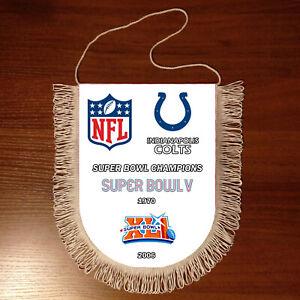 Pennants Indianapolis Colts SUPER BOWL CHAMPIONS NFL USA 1966-2020