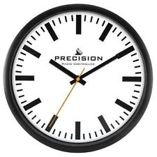 Precision Radio Controlled Stylish White Dial Wall Clock - PREC0109