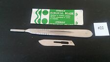 10 Surgical  Blades# 22 with Scalpel Handle # 4 Dental