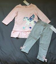 Toddler Girl 18-24 Month Gymboree Pink Pegasus Horse Dress & Ribbon Leggings