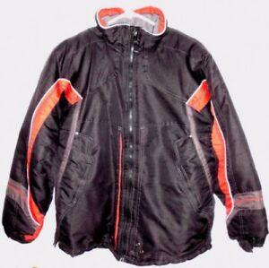 LONDON FOG Coat X-LARGE 18/20 Boys Black Red Ski Jacket Coat Outerwear