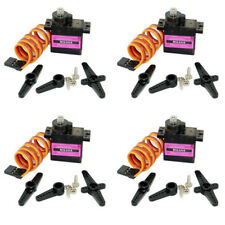 4 set MG90S Digital Micro Servo Motor Metal Gear for RC Helicopter Airplane mkl