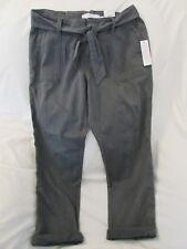 "Ladies ""Sonoma"" Size 12, Asphalt(Gray),Mid Rise, Self Belt, Cuffed, Capris"