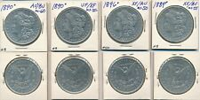 4 FOUR MORGAN DOLLAR LOT #35 90% SILVER US COIN polished