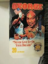 GEORGE / FOREMAN - ACMI 20TH CENTURY HALL OF FAME PHONE CARD 4/96 VINTAGE NoS