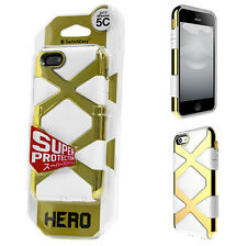 SwitchEasy HERO Hybrid Super protection Case for iPhone 5C - White/Gold