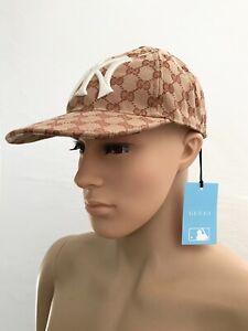 GUCCI Herren Luxus Base Logo Cap Hut Mütze HAT GG Canvas One Size 57-61cm Neu