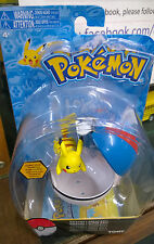 Pokemon Pikachu  Figure  Clip and Carry PokeBall with  Attack Tag Tomy Carded