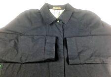 Laura Ashley Jacket Ladies Size XL Navy Blue Long Lined Car Coat