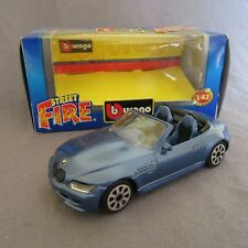 8F Burago 4149 BMW Z3 M Roadster Blue 1:43