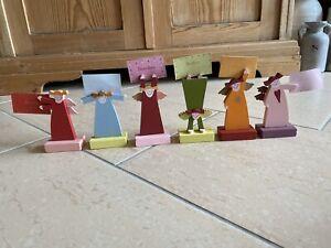 6x Platzkarten Halter Himmlische Schwestern