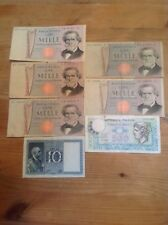 A good mixture of Italy Lire banknotes. Various dates and signatures.