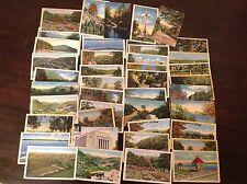 Big lot of 40 Linen Pennsylvania Postcards 1930s - 1940s