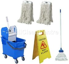 More details for professional kentucky mop bucket set - complete mop - 2 extra refills & sign