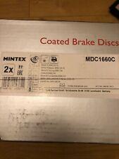 Brand new mintex vented bmw 5 series, 6 series rear brake discs x2