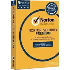 Symantec Norton Security Premium 3.0 25GB (5Device, 1User, 1 Year) Retail Box ea