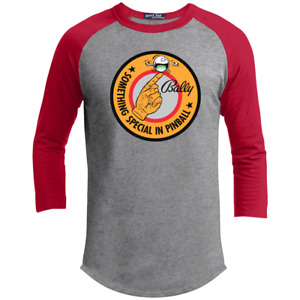 Bally Pinball, Retro, arcade, Crest, Gamer, Silverball, 3/4 Sleeve T-Shirt