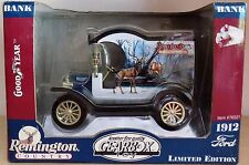 1912 FORD model T delivery REMINGTON -NEUF limited édition GEARBOX 1:24 tirelire