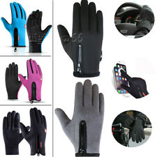 Mens Women Winter Warm Windproof Cycling Anti-slip Thermal Touch Screen Gloves