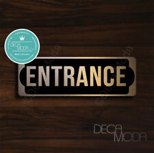 Entrance Sign, Brushed Copper Finish Entrance Door Sign, 9 x 3 inches