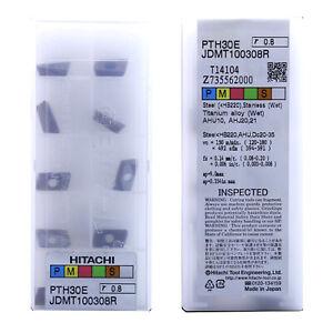 H● HITACHI JDMT100308R PTH30E CNC Carbide Inserts 10PCS/ Box New