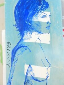 David Bromley Original Painting Acrylic on Canvas JANEY NUDE 90x60cm COA GIRL