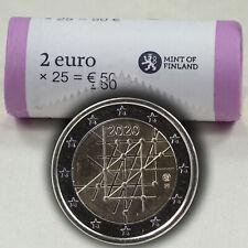 25 x 2 Euro Münze Coin Gedenkmünze Finnland Universität Turku 2020 in Rolle