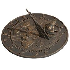 "Frog Oil Rub Bronze Aluminum 12"" Sundial by Whitehall Products"