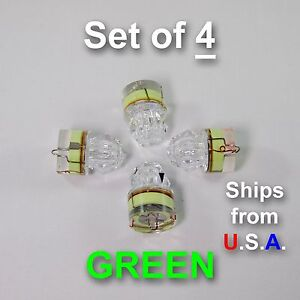 SET OF 4 DIAMOND LED fishing lights, GREEN, deep drop, swordfish, FREE SHIP, USA