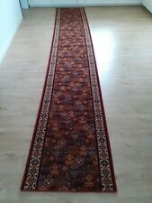 Very long red runner 423cm x 70cm. Very good condition