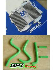 aluminium radiator +hose Kawasaki KX125 KX250 KX 125 250 1999-2002 2001 2000 99