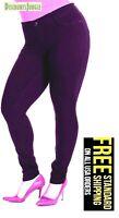 1826 jeans WOMENS sexy PLUS SIZE MOLETON Purple SKINNY LEG Stretch Cotton pants
