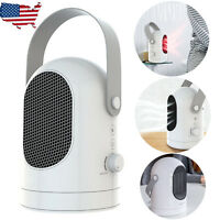 Portable 1000W Mini Air Heater Space Home Office Winter Warmer Fan Air Heater US