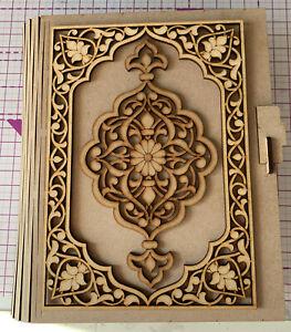 MDF Wooden Large Book Box Memory Photo Wedding Birthday Craft DIY MYO Journal