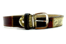Greis Pel Italian Mens Patchwork Leather Belt Multi Coloured Size 36